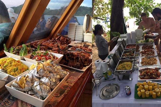 Great food on and off the boat