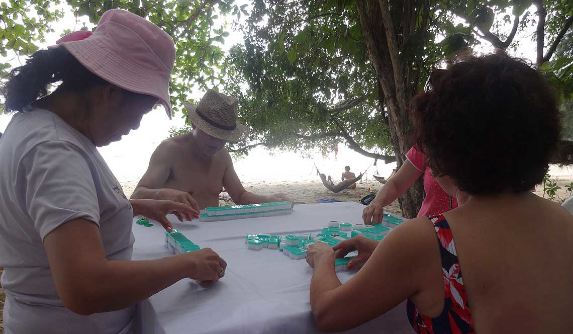 Enjoy a game of Mahjong