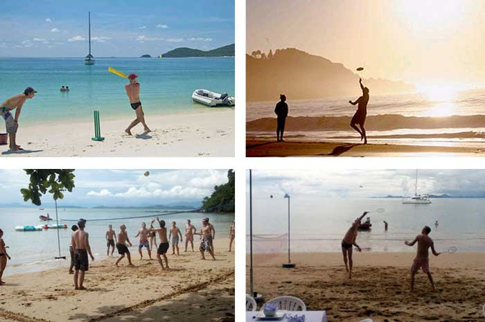 Beach sports on offer