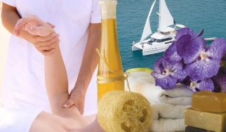 Get pampered with a special Thai massage on the upper deck of your yacht Shangani