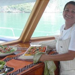 on board chef international and thai cuisine vegetarian meals cocktails yacht charter phuket