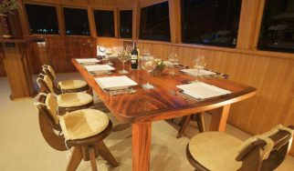 Shangani Middle Deck Saloon dining table for 8