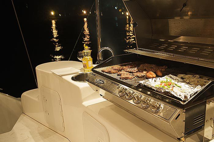 Our on-board BBQ