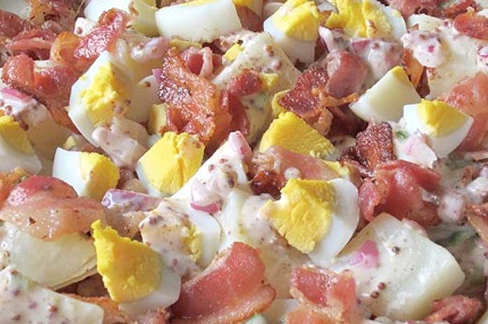 Potato Salad with Bacon & Eggs