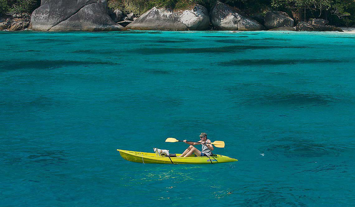 paddle around the phuket coast and into the limestone caves
