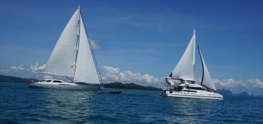 SILVERLINING AND SHANGANI YACHTS OPERATING TOGETHER IN PHUKET
