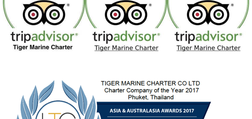 TIGER MARINE CHARTER- PHUKET – AWARDS