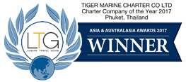 Tiger Marine Charter chareter company of the year award 2017 Asia & Australasia awards winner luxury travel guide