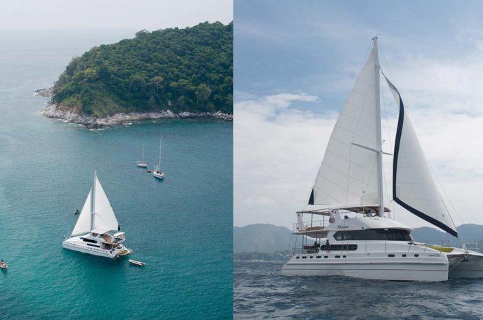 Our yacht Shangani under sail