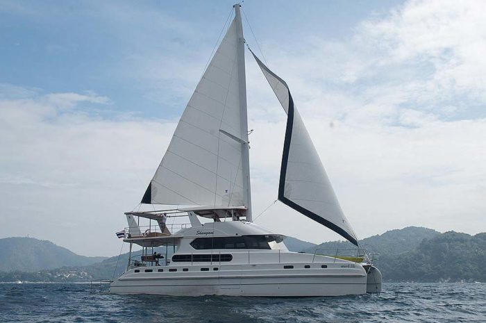 Setting sail off the coast of Phuket