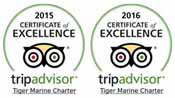 trip advisor certificate of excellence awards 2015 2016 tiger marine charters phuket yacht charter